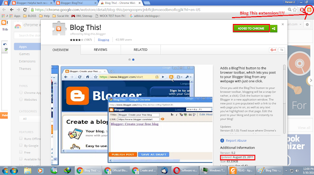 Blog This extension