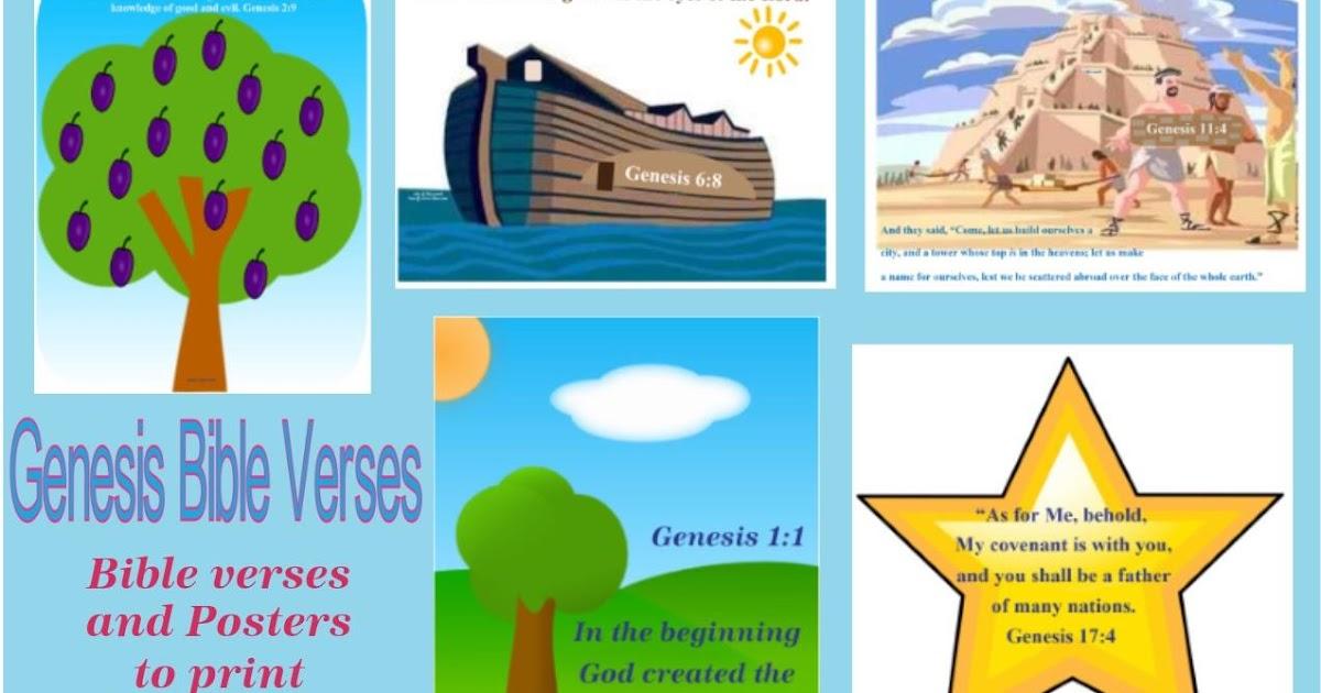 Bible Fun For Kids Genesis Bible Verse Printables