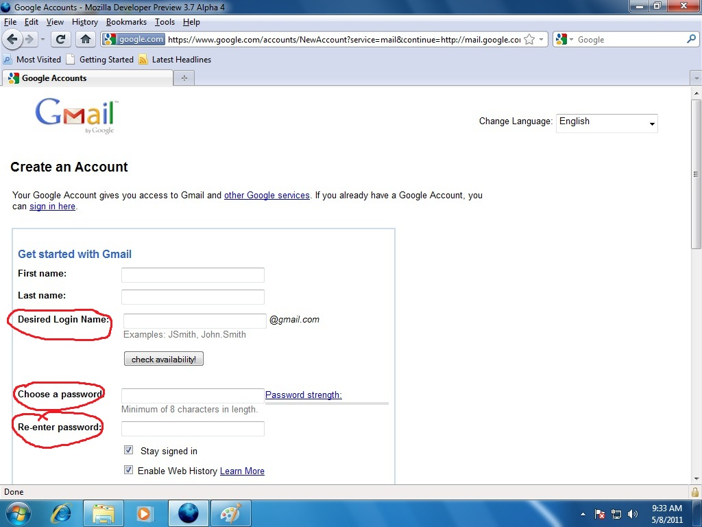gmail account - HD 1024×768
