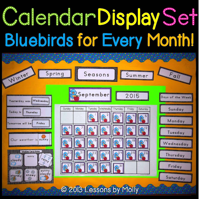 https://www.teacherspayteachers.com/Product/calendar-skills-display-set-with-blue-bird-theme-825675