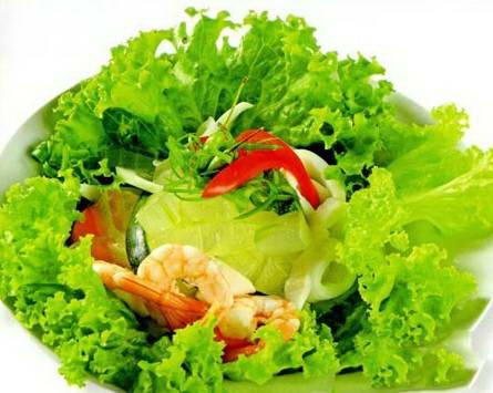Salad nha đam tôm mực