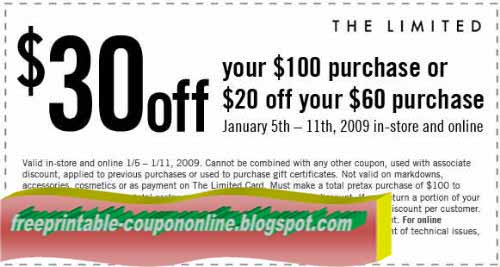 The limited printable coupons