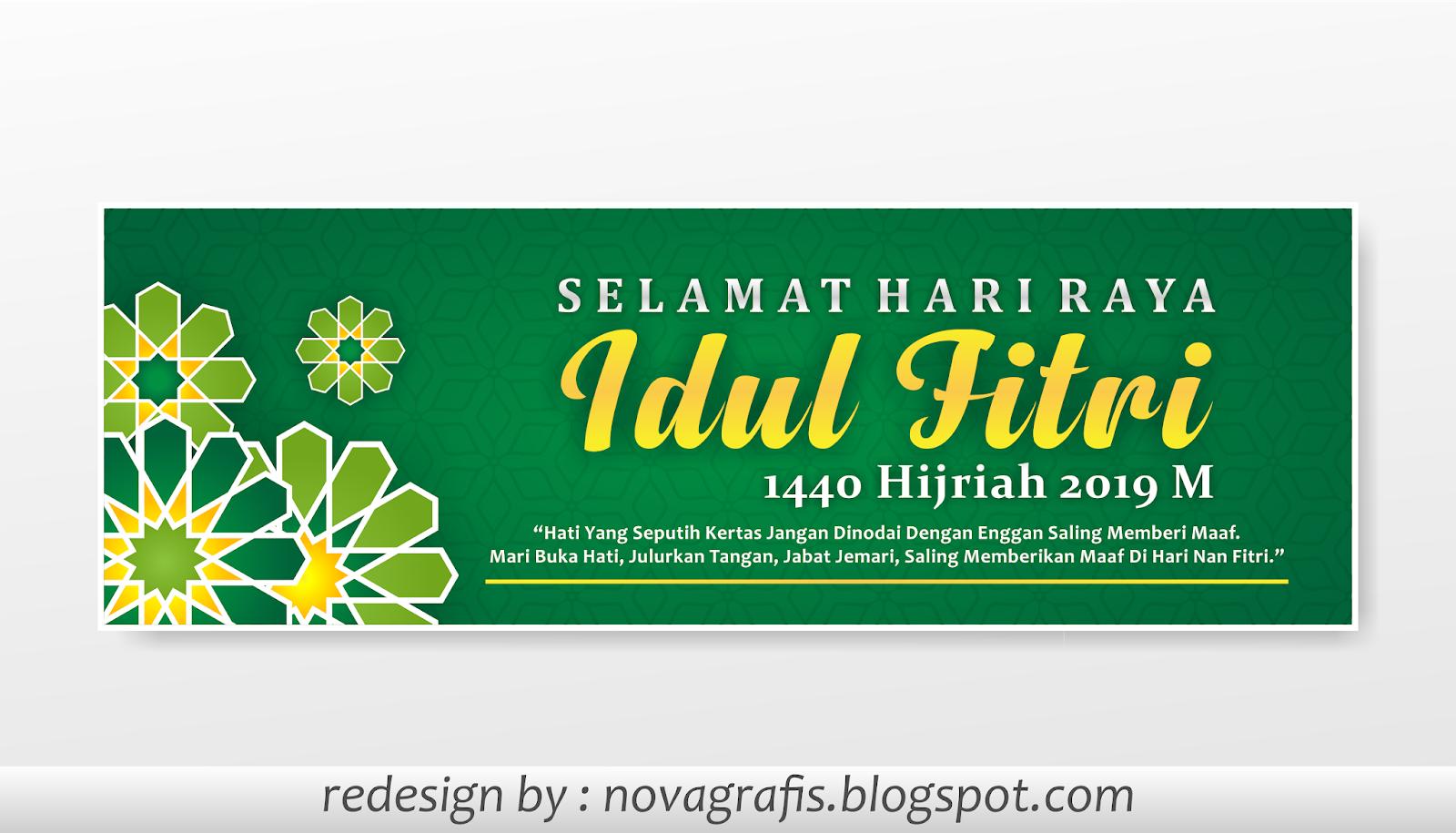 Banner Idul Fitri 2019 Nova Grafis