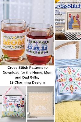 Great Cross Stitch Patterns to Download for the Home and for gifts