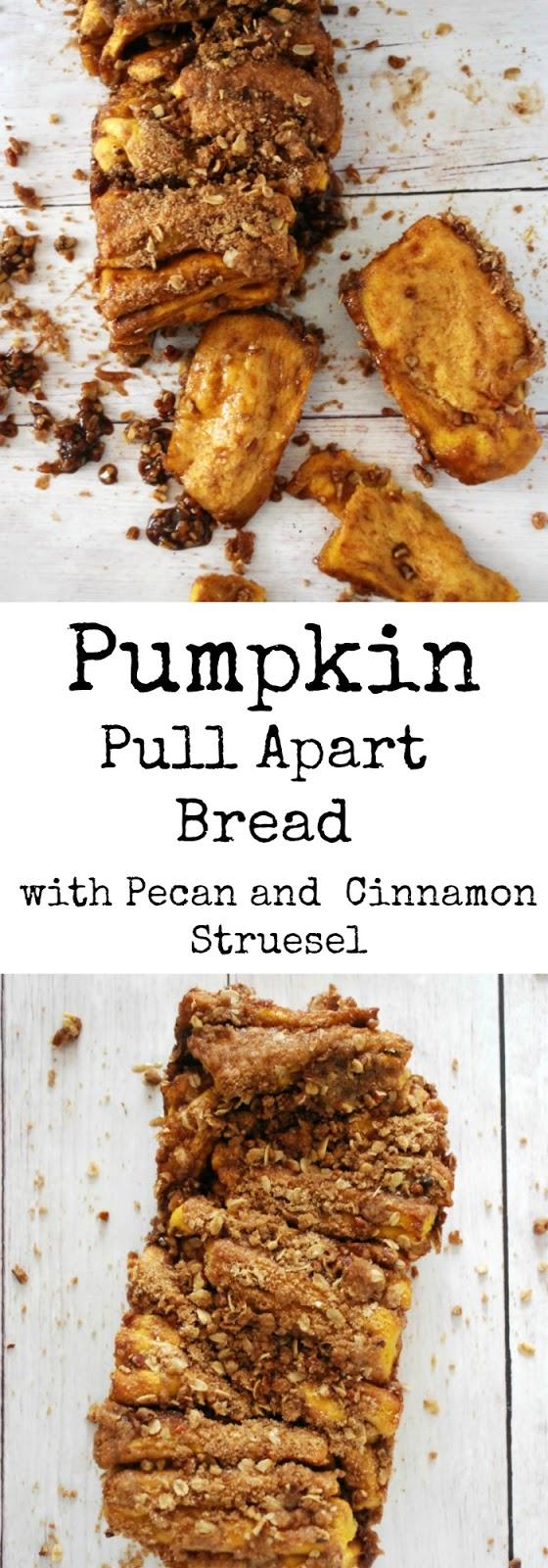 Pumpkin Pull Apart Bread with Pecan Cinnamon Sugar Streuse