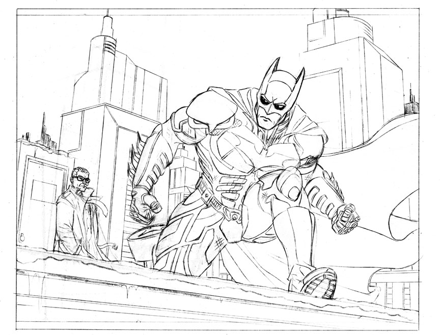 Cohn an the scribarian dark knight rises i am bane for Dark knight coloring pages