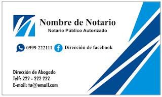 Tarjeta personal para abogados y notarios