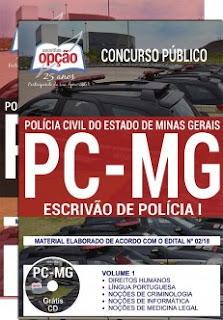 baixar Apostila Concurso PC MG 2018 PDF Download
