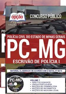 baixar Apostila Concurso PC MG 2018 PDF Download