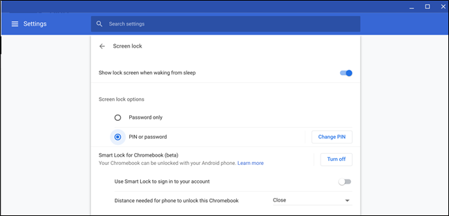 Smart Lock per Chromebook