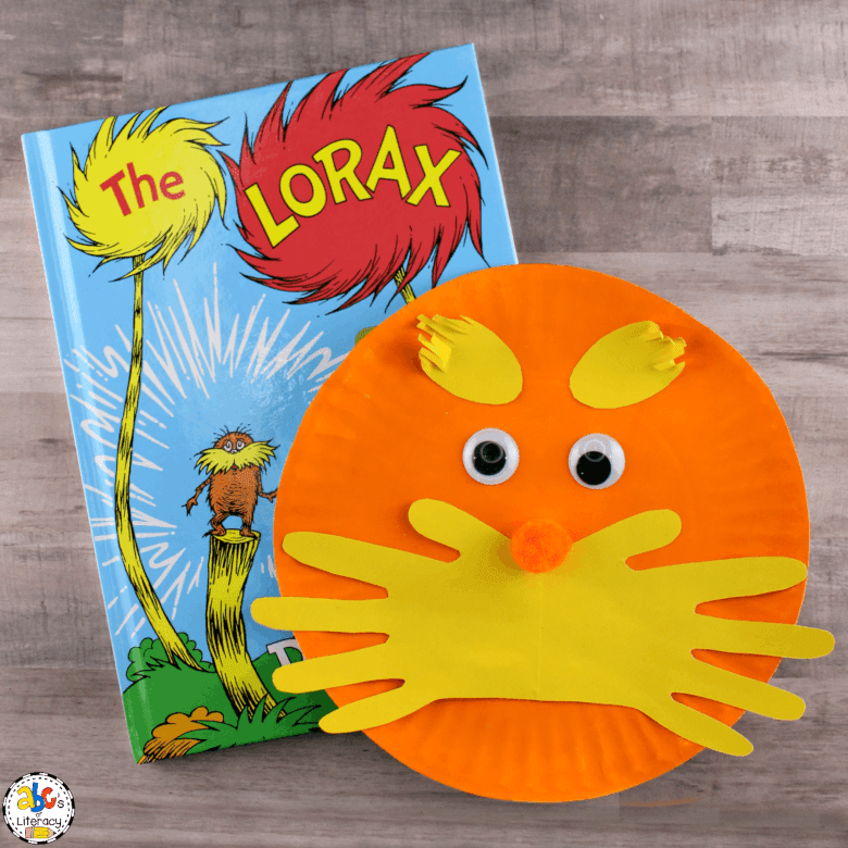 Dr Seuss Activities for Toddlers - Lorax craft
