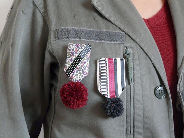 """Broches dans le style """"décoration militaire"""""""