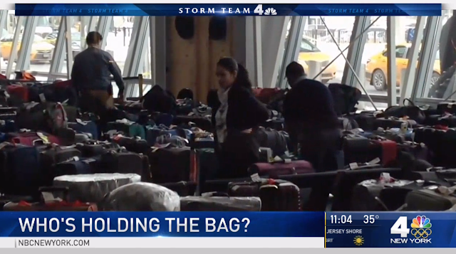 Image Shows Hundreds of Bags Underneath JFK Terminal Ramp As Owners Wait Following Weekend Chaos