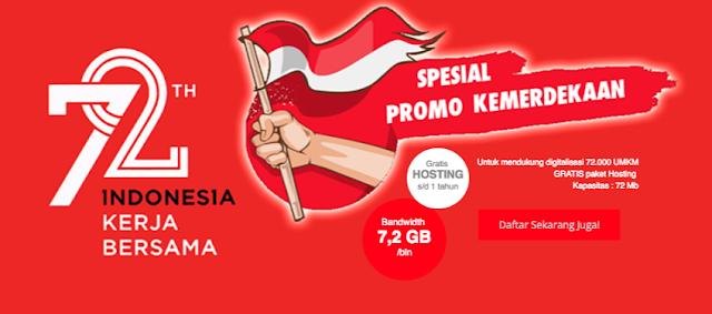 Free Hosting 1 Tahun dari Telkomsigma Bandwidth 7,2GB/Perbulan