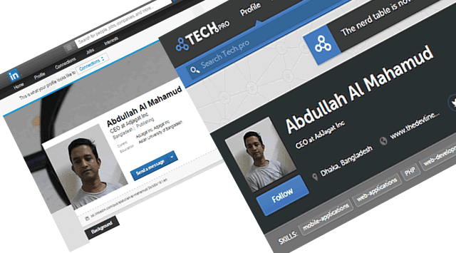 Expose your self by making your professional profile in LinkedIn & tech.pro 2