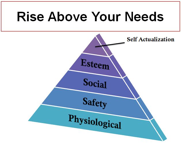 Rise Above Your Needs