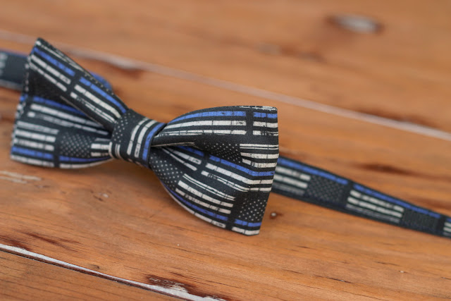 Because I'm Me Thin Blue Line law enforcement support cotton bow tie