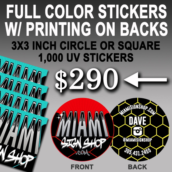 290 for 1000 stickers 3x3 inch contact us anytime to get started also available in dye cut shapes