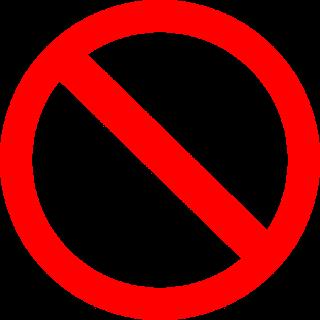 Señal Prohibido.