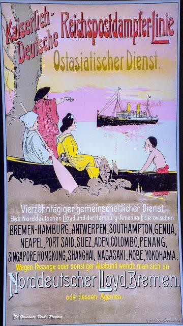 Museo Red Star Line, cartel de publicidad - Amberes por El Guisante Verde Project