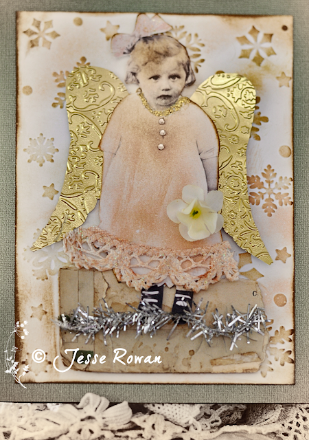 Shabby chic card by Jesse Rowan