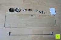 Erfahrungsbericht: Badablage mit Glasboden und verchromter Reling 50 x 14 cm
