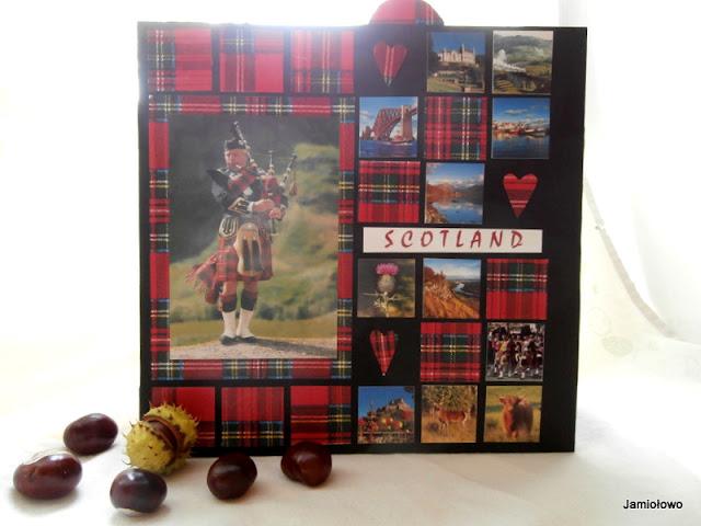 album mozaikowy z podróży po Szkocji