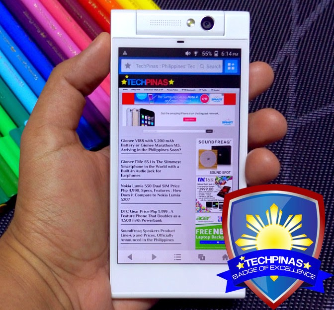 Gionee Elife E7 Mini, Gionee Elife E7 Mini Philippines, TechPinas Badge of Excellence