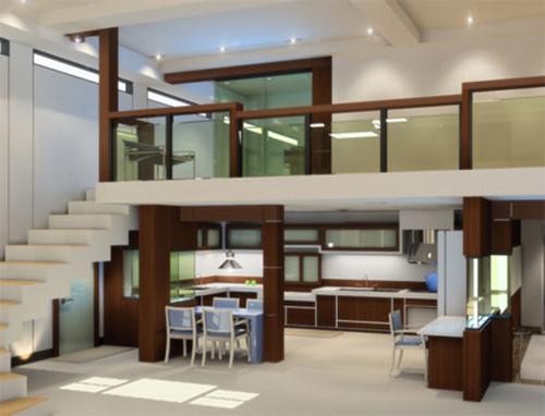 thiết kế sàn gác lửng hiện đại và sang trọng