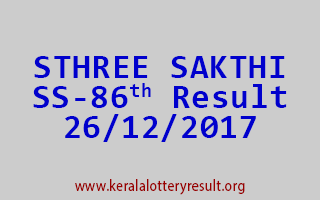 STHREE SAKTHI Lottery SS 86 Results 26-12-2017