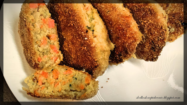 Kotlety rybne z warzywami