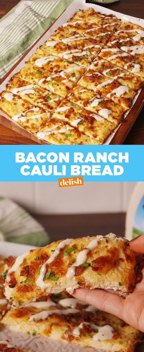 Bacon Ranch Cauli Bread