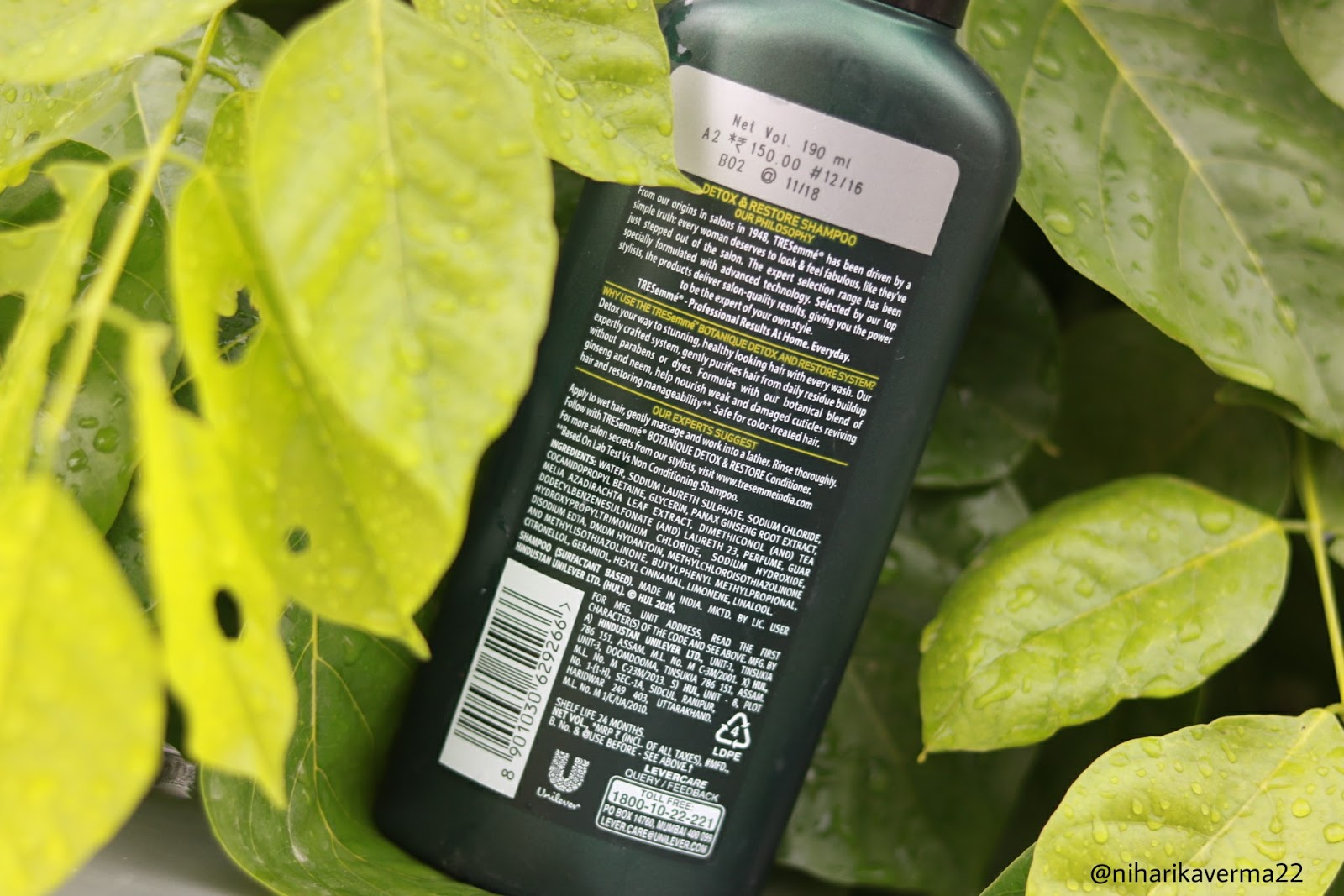 Tresemme Botanique Detox and Restore Shampoo Review