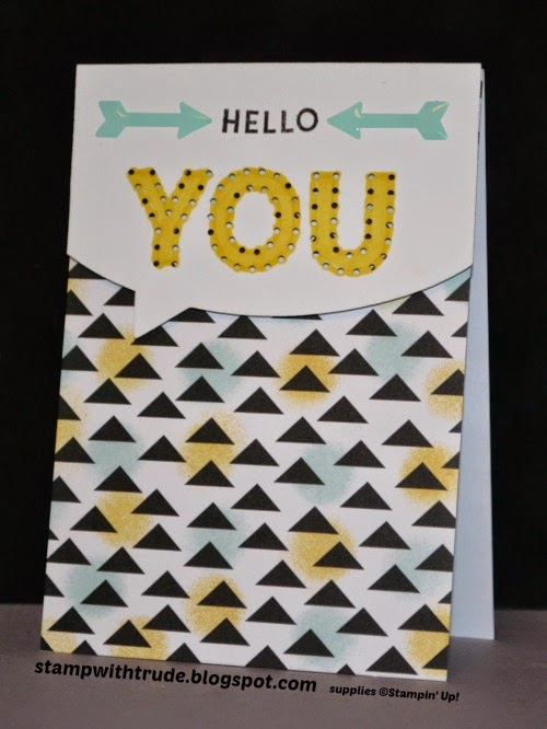 stampwithtrude.blogspot.com, trude thoman, march paper pumpkin, Stampin' Up!, greeting card, hello