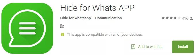 Make WhatsApp Status Invisible Hide For WhatsApp