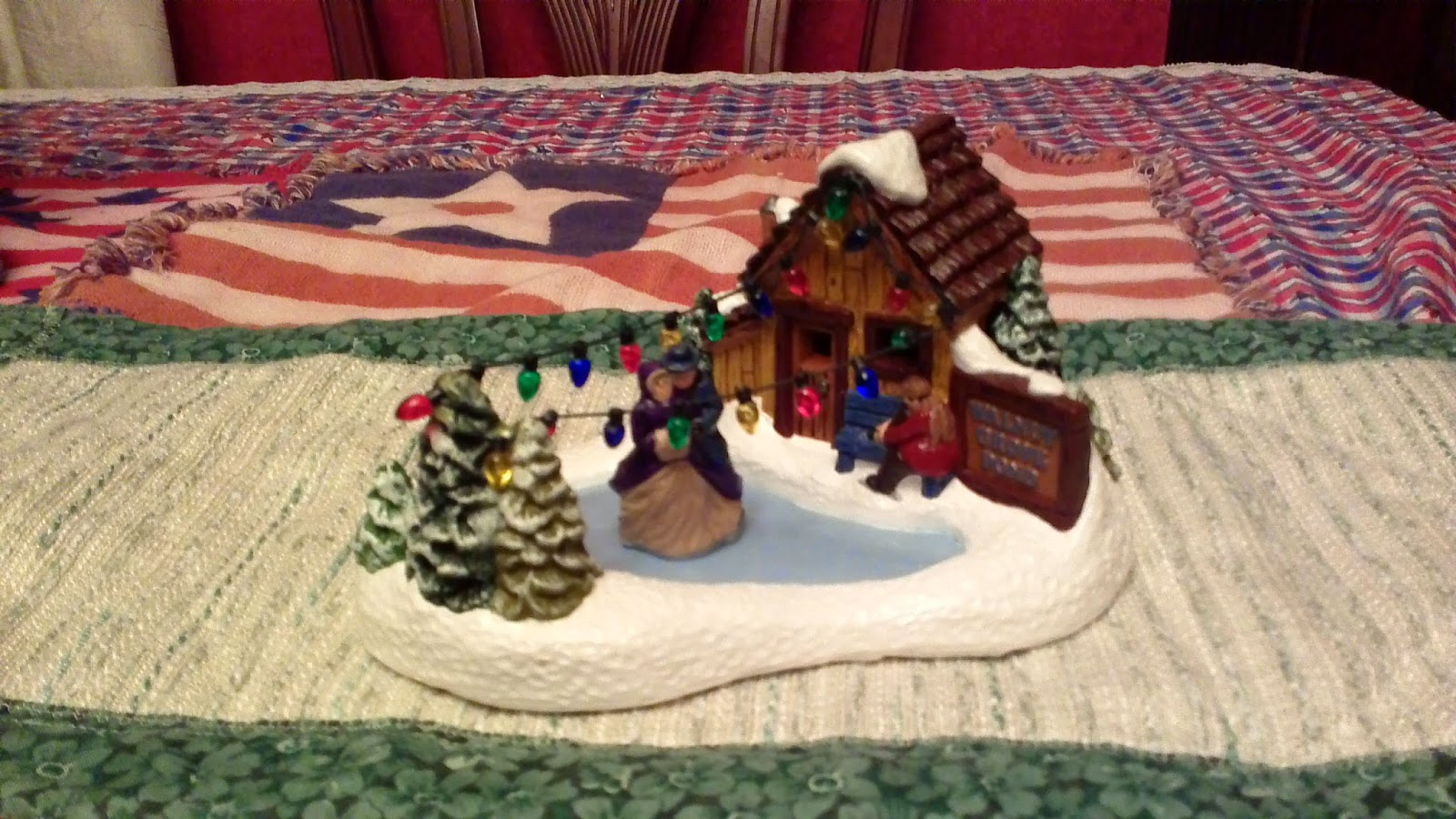 Plaster Crafts Christmas Village Houses