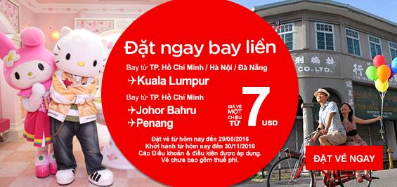 Vé máy bay đi Bangkok giá rẻ hãng Air Asia