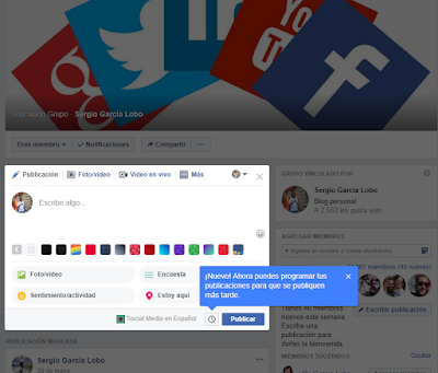 Facebook, redes sociales, social media, programar, Facebook grupos,
