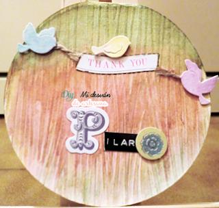 Frontal de la tarjeta redonda para Pilar