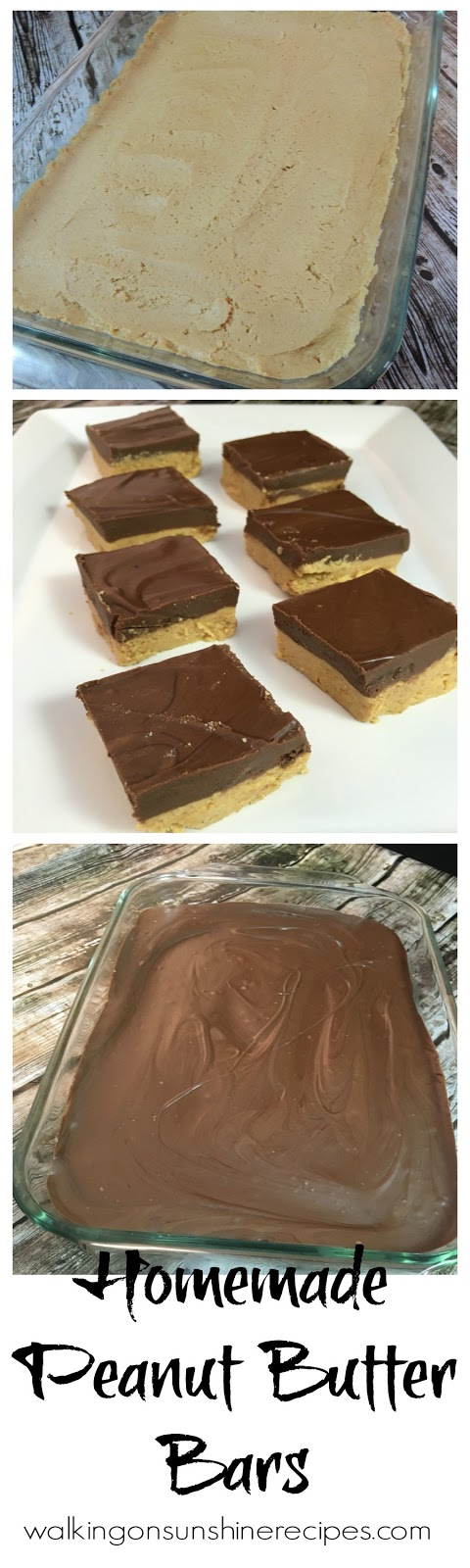 Homemade Peanut Butter Bars Recipe.