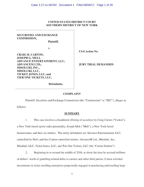 craig carton indictment 1:17-cv-06764