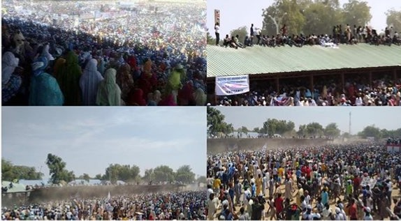 Tragedy averted as pavilion collapses during APC rally in Borno