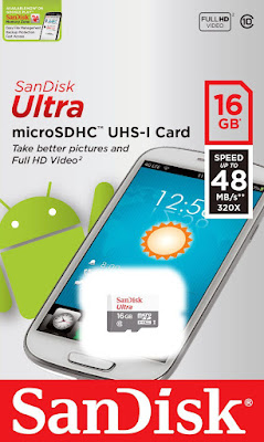 Amazon's is offering SanDisk Ultra MicroSDHC 16GB UHS-I Class 10 Memory Card at just Price Rs.180
