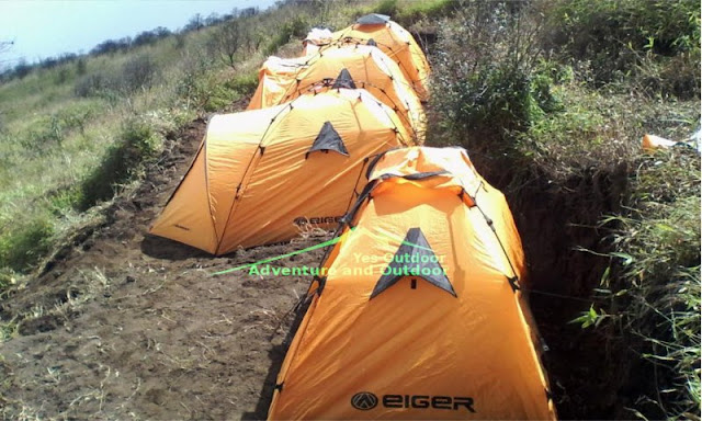 Tenda untuk pendaki luar negeri di Merbabu