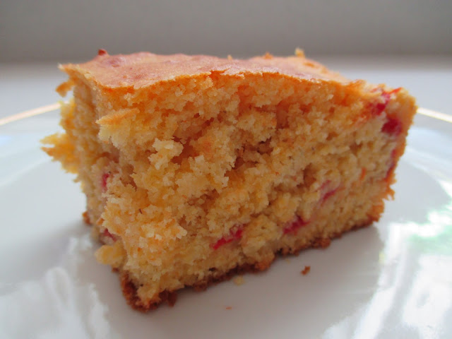 Cheddar and Pimiento Cornbread Slice