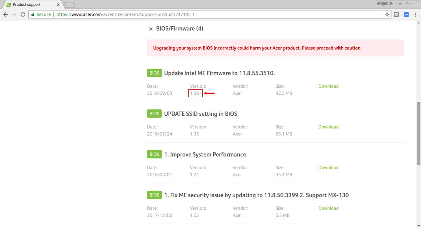 Cara Update BIOS Acer ke Versi Terbaru (Acer E5 476G)   WeBaik