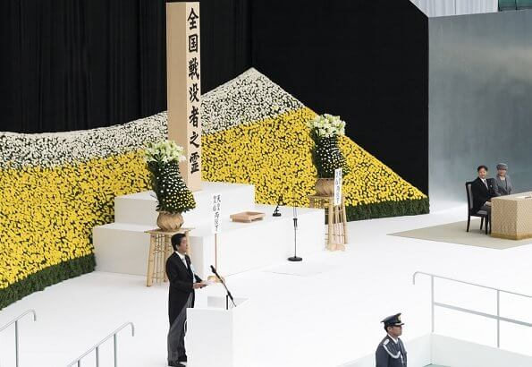 Japan's Emperor Naruhito and Empress Masako attended a memorial service marking the 74th anniversary of Japan's surrender in WWII