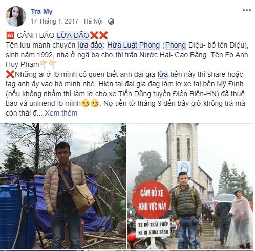Hứa Luật Phong - Anh Huy Phạm lừa đảo