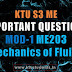 Mechanics of Fluids ME203 Important Questions | Module-1