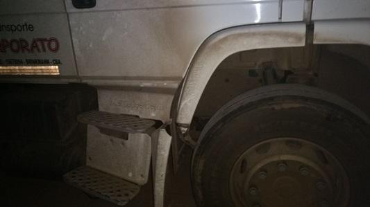 Camionero conducía peligrosamente y borracho por la ruta 158